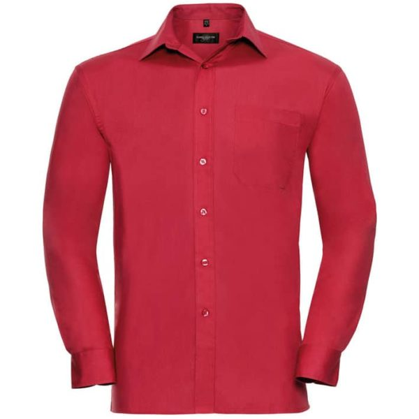 Werbeartikel Mens Long Sleeve Pure Cotton Easy Care Poplin Shirt OR936M