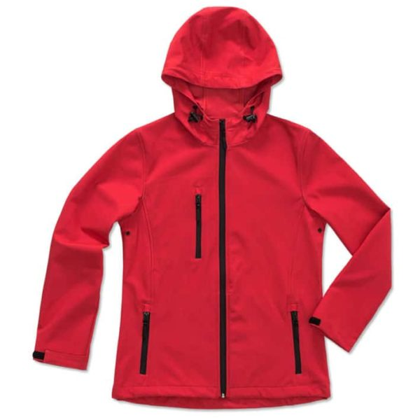 Werbeartikel Activ Softest shell hooded Jacket for women ST5340